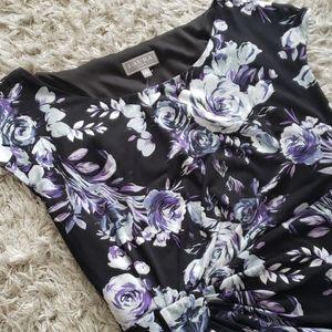 LAURA - Floral Print Jersey Dress (PLUS)